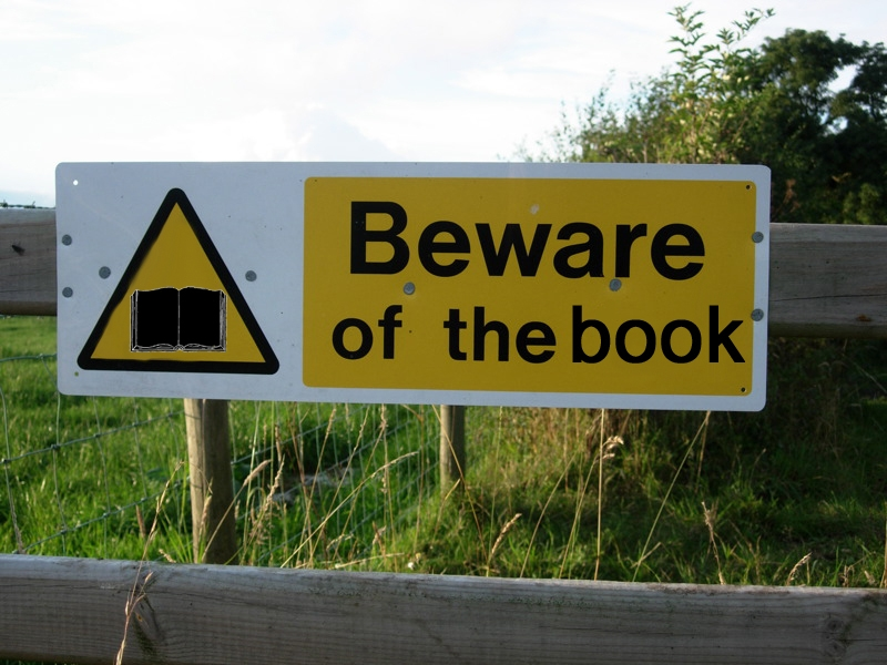 banned books sign