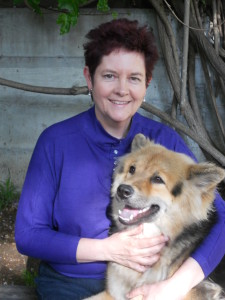 Deb with rescue dog Nala